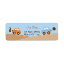 Boys Transportation Traffic Car Address Labels