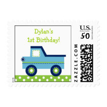 Boys Transportation Truck Postage Stamps