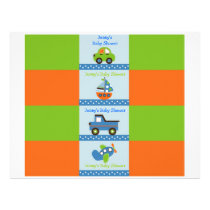 Boys Transportation  Water Bottle Labels Flyer