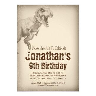 Boys TRex Dinosaur Birthday Party Invitations