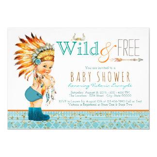 Boys Tribal Boho Wild and Free Baby Shower Card