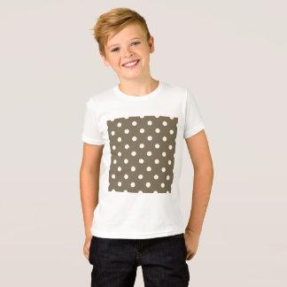 Boys tshirt with Brown coffee dots