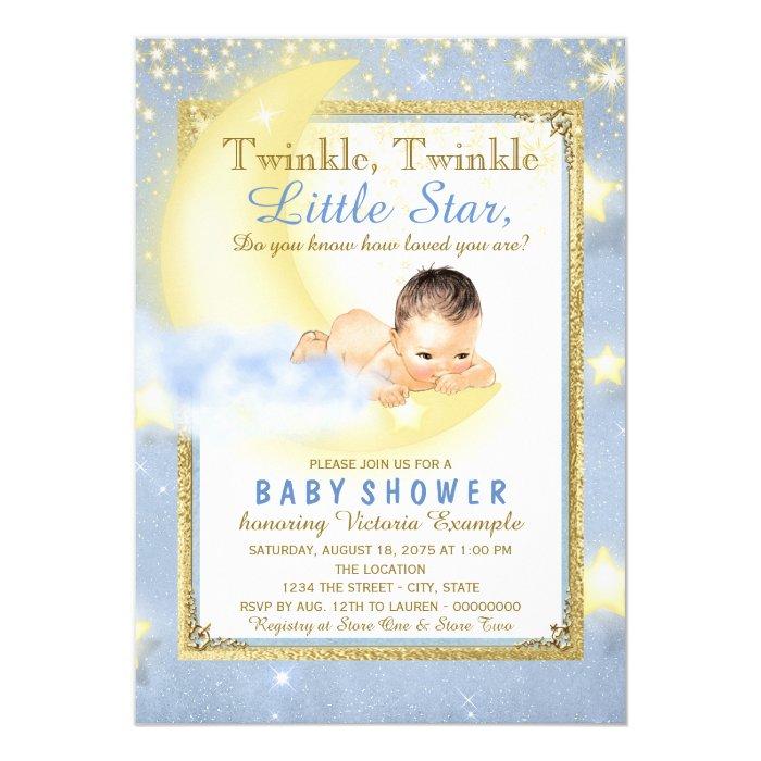 boys twinkle twinkle little star baby shower card zazzle