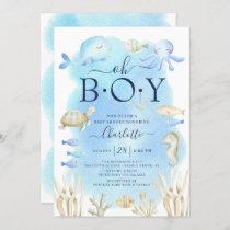 Boys Under The Sea Baby Shower Invitation