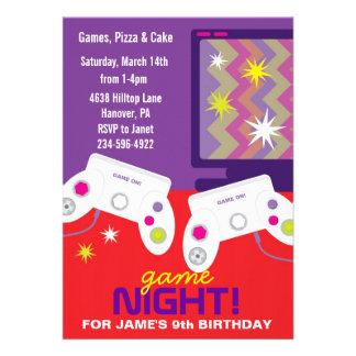 Boys Video Game Birthday Party Invites