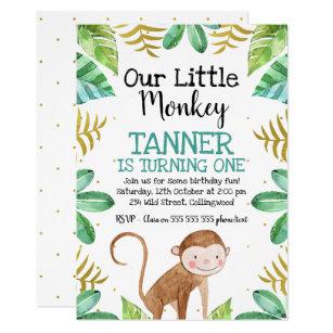 Monkey Birthday Invitations Zazzle