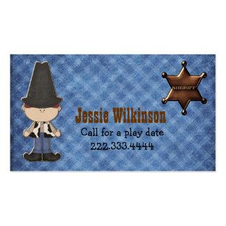 Boy's Western Theme Custom Playdate Card