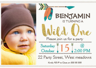 1st birthday boy invitations announcements zazzle boys wild one arrow 1st birthday invitation filmwisefo Image collections