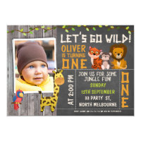 1st birthday boy invitations announcements zazzle boys wild safari animals 1st birthday invitation filmwisefo
