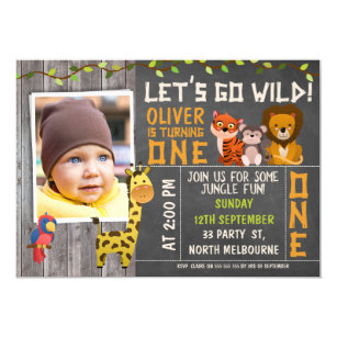 Boy 1st birthday invitations zazzle boys wild safari animals 1st birthday invitation filmwisefo