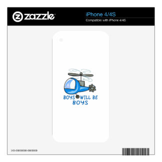 Boys Will Be Boys iPhone 4S Decals