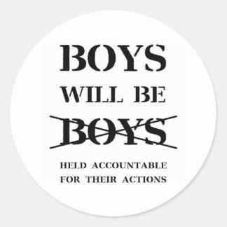 Boys will be Boys Sticker (curse free)
