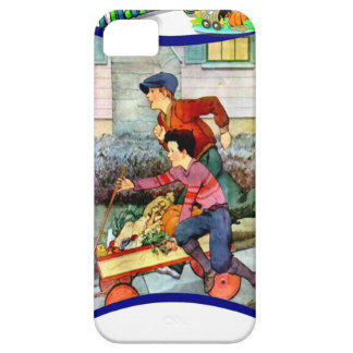 Boys with a cart of vegetables iPhone SE/5/5s case