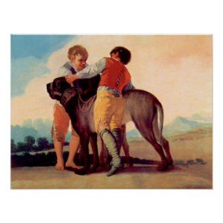 Boys with blood dogs by Francisco de Goya Posters