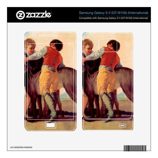 Boys with blood dogs by Francisco de Goya Samsung Galaxy S II Skins