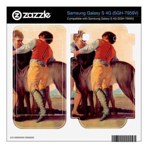 Boys with blood dogs by Francisco de Goya Samsung Galaxy S 4G Skins