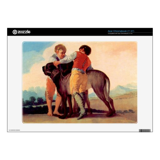 Boys with blood dogs by Francisco de Goya Acer Chromebook Skins