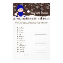 Boys Word Scramble Nursery Rhyme Baby Shower Games Flyer