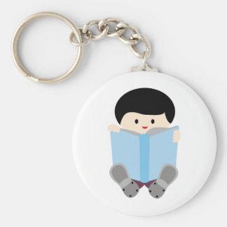 BoysBookCP10 Basic Round Button Keychain