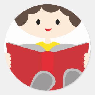 BoysBookCP5 Classic Round Sticker