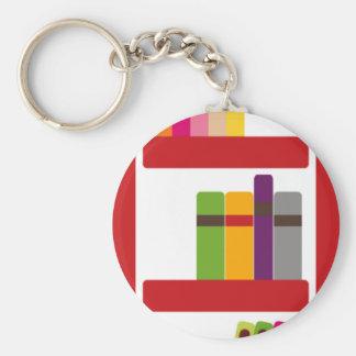 BoysBookCP8 Basic Round Button Keychain