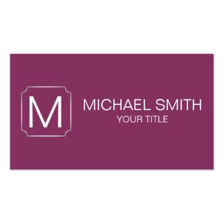 Boysenberry color background business card