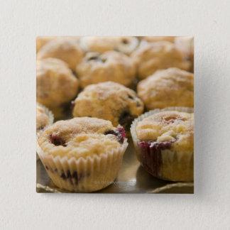 Boysenberry muffins on a platter button