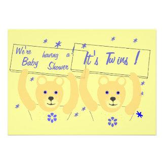 BoyTwins Baby Shower Invitation