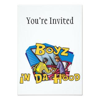 """Boyz en capilla de DA Invitación 5"""" X 7"""""""