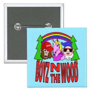 Boyz en la madera pin cuadrado