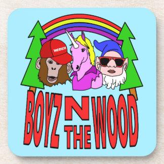 Boyz en la madera posavasos de bebidas