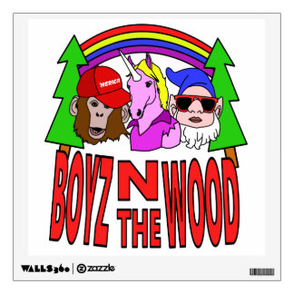 Boyz In The Wood Wall Sticker