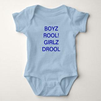 BOYZ ROOL! GIRLZ DROOL BABY BODYSUIT