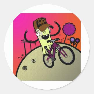 boz hill classic round sticker