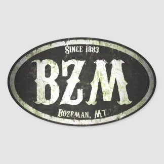 Bozeman Freak Grunge Oval Sticker