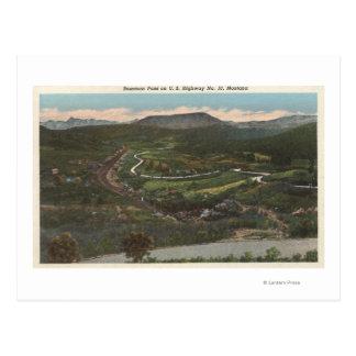 Bozeman, Montana - Bozeman Pass on Highway 10 Postcard