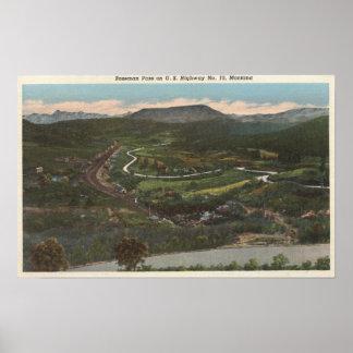 Bozeman, Montana - Bozeman Pass on Highway 10 Poster