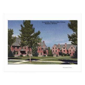 Bozeman, Montana - Dormitories at Montana State Postcard