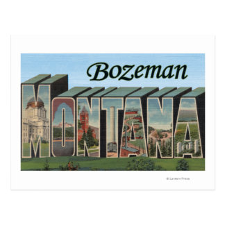 Bozeman, Montana - Large Letter Scenes Post Cards