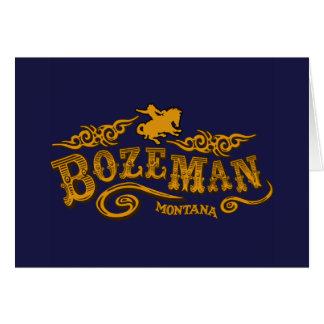 Bozeman Saloon Card