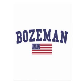 Bozeman US Flag Postcard