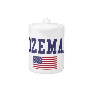 Bozeman US Flag Teapot