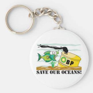 BP ahorra nuestros océanos Llavero Redondo Tipo Pin