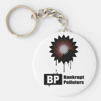 BP = BANKRUPT POLLUTERS KEY CHAIN