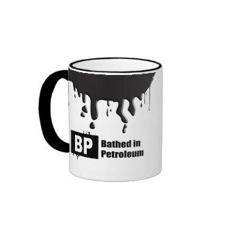 BP = BATHED IN PETROLEUM MUG