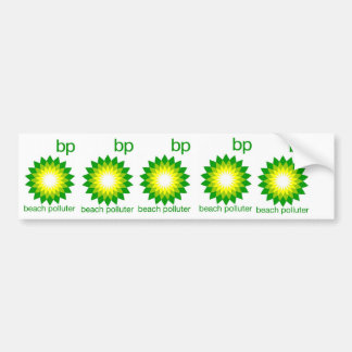 BP Beach Polluter Sticker Car Bumper Sticker
