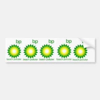 BP Beach Polluter Sticker Car Bumper Sticker