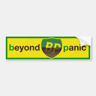 BP Beyond Panic  Retro Shield Bumper Sticker Car Bumper Sticker