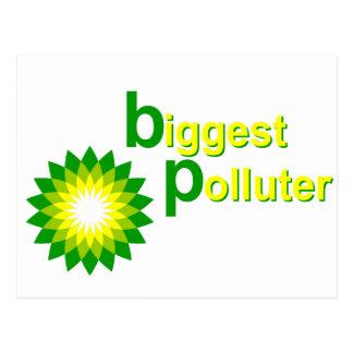 BP Biggest Polluter Postcard