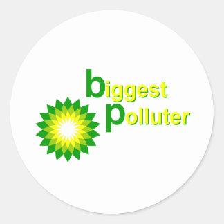 BP Biggest Polluter Round Sticker